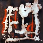 Senza titolo, acrilico e olio su tela, 2014