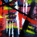 Graffiti, acrilico su tela, 2012