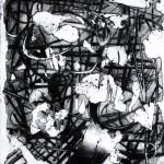 Graffiti #2, tecnica mista su zinco, 2015