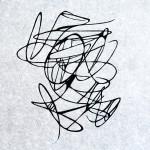 Dinamismo astratto #2, xilografia, 2015