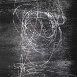 Orbite impazzite #1, xilografia, 2017
